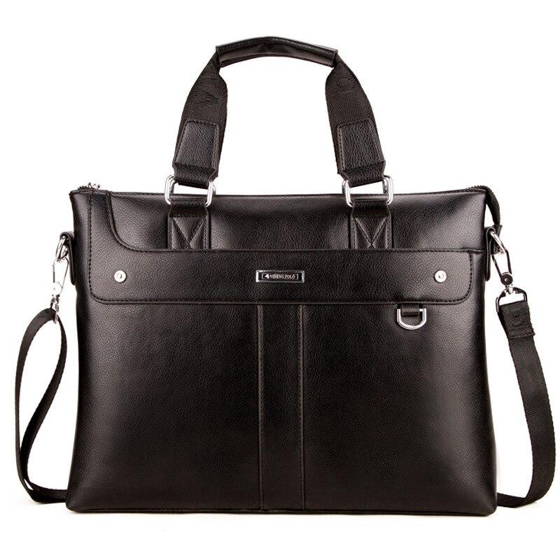 2019 Fashion Business Men Briefcase Leather Laptop Handbag Tote Large Man Bag For Male Shoulder Bag Office Messenger Bag