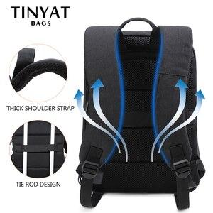 Image 5 - TINYAT hommes sac à dos pour ordinateur portable USB pour 15.6 pouces homme sac à dos sac 90c ouvert affaires épaule sac à dos mâle sac à dos voyage Mochila