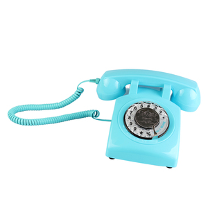Image 2 - Retro Rotary Dial Home Phones, Old Fashioned Classic Corded Telephone Vintage Landline Phone for Home and Office