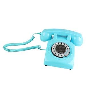 Image 2 - Retro della Manopola Rotativa Telefono di Casa, Vecchio stile Classico Con Filo Telefono Telefono Vintage Telefono di Rete Fissa per la Casa e Lufficio
