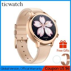 Оригинальный Ticwatch C2 Smartwatch одежда OS от Google Встроенный GPS монитор сердечного ритма фитнес-трекер Google Pay бесплатный подарок-ремешок
