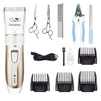 Bstates-Blue-Pet Clipper Dog Grooming haircut Trimmer Shaver Set