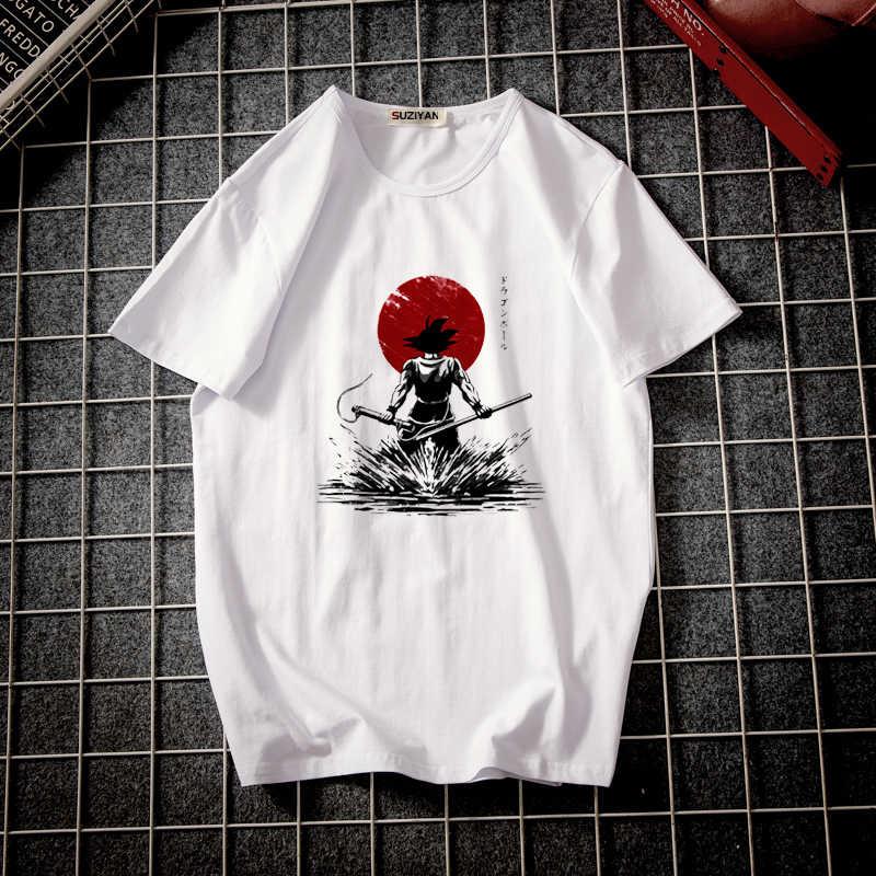 Мужская футболка с короткими рукавами, хит 2019, Harajuku, футболки, японский жемчуг дракона, Гоку, Крутое изображение, фото принт для студентов кампуса