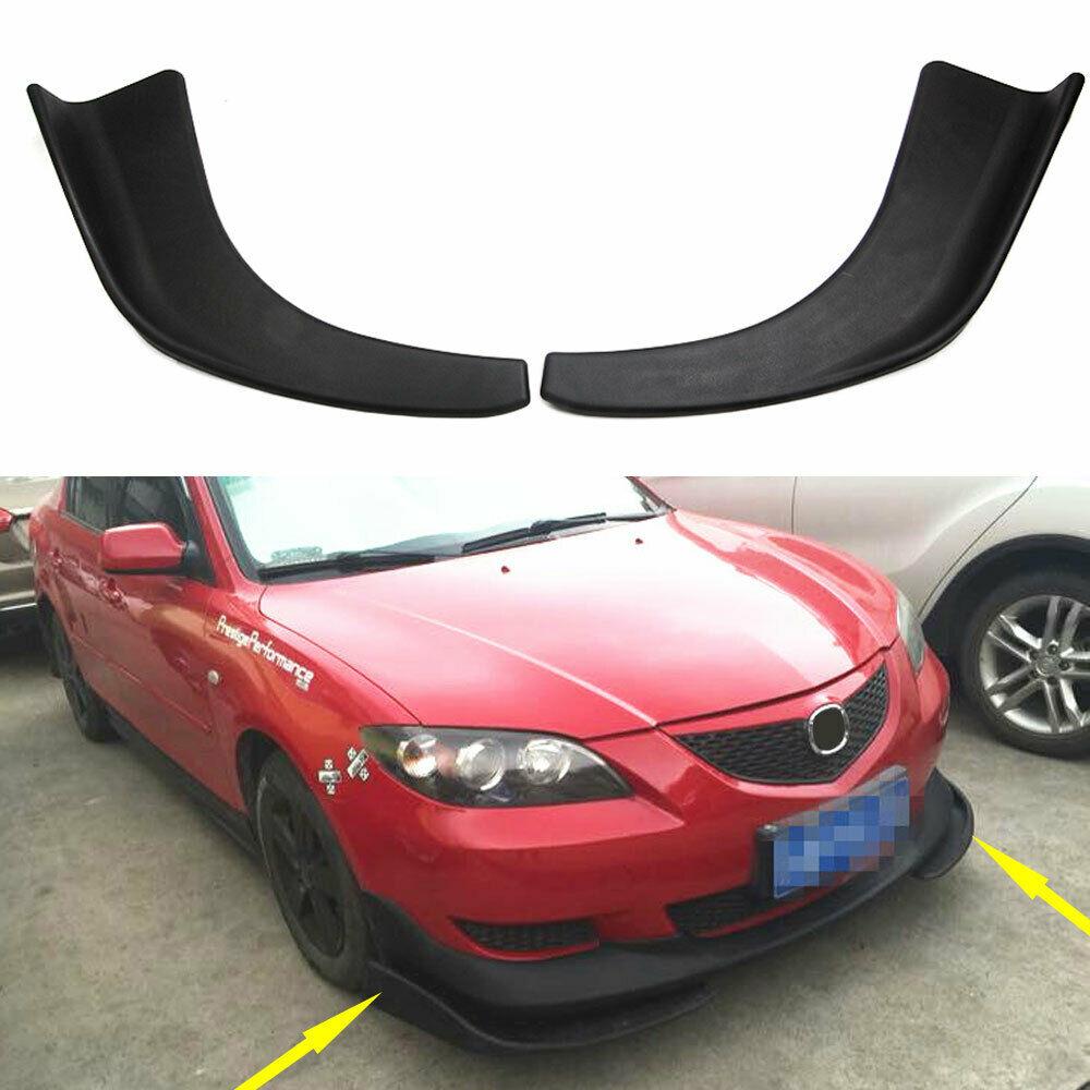 Универсальный черный Автомобильный бампер из АБС, спойлер, передняя лопата, устойчивое к царапинам крыло