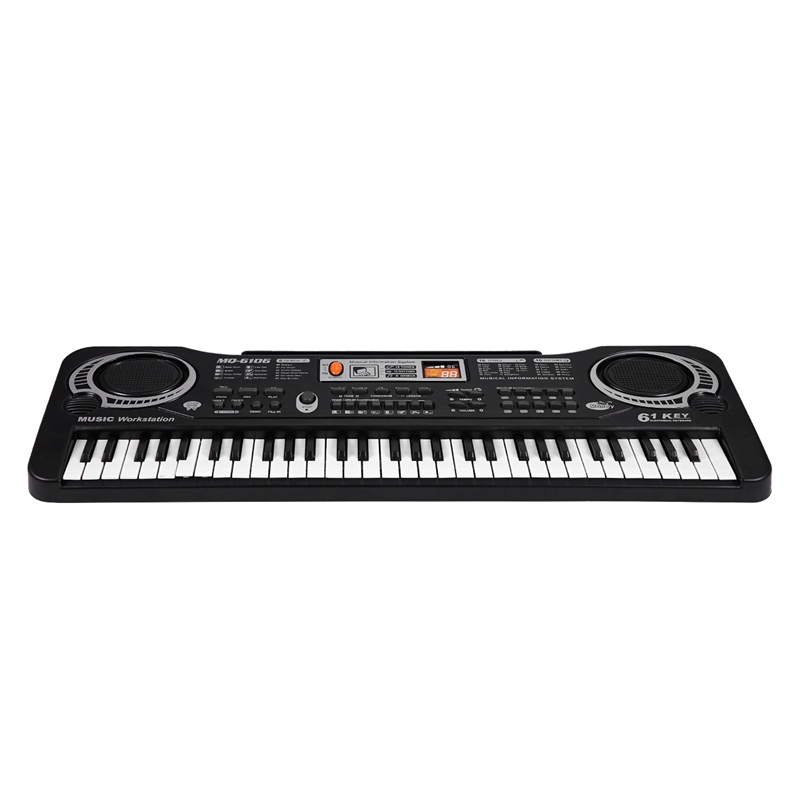 Teclas de Música Presente das Crianças Plugue da ue Digital Teclado Eletrônico Placa Chave Piano Elétrico mq 61 Mod. 312553