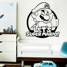 Diy Супер Марио наклейки на стену современный интерьер искусство