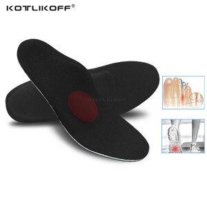 Image 1 - KOTLIKOFF שטוח רגליים orthotic רפידות קשת תמיכה אורטופדי מוסיף Plantar Fasciitis, רגליים כאב, פרונציה עבור גברים ונשים
