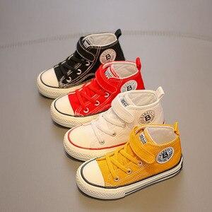 Image 5 - حذاء قماش للأطفال الفتيات أحذية رياضية عالية الفتيان أحذية الشتاء تنفس 2020 الخريف الشتاء موضة الاطفال حذاء كاجوال طفل الأحذية