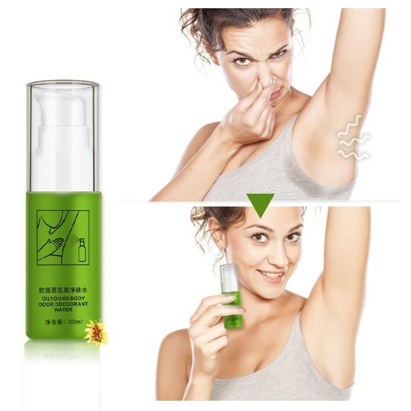 Natural Remove Armpit Foot  Body Odor Deodorizer Eliminate Bad Smell Antiperspirants Bodys Spray Antiperspirants 20ml