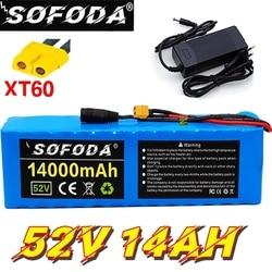 18650 52V 14ah 14S3P batterie au Lithium 52V 14AH 1000W batterie de vélo électrique intégrée dans 20A BMS XT60 58.8V 2A chargeur