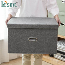 large Cotton linen Fabric Folding Storage Box Closet Bedroom Drawers Kids Toy storage box Cosmetics Organizer Laundry Basket