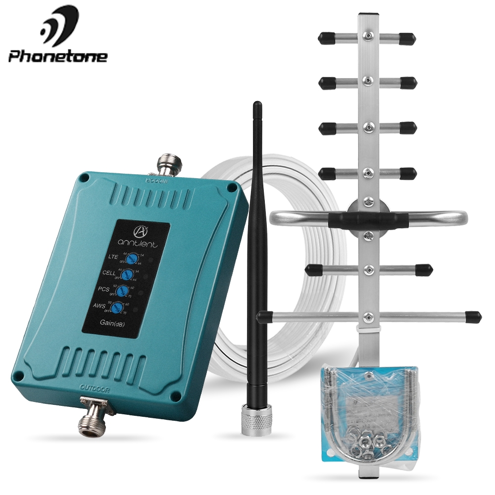 3G 4G LTE Cell Phone Signal Booster For US/CA Phone Signal Repeater 850/1700/1900/700 Mhz AT&T Verizon Amplifier For Voice/Data