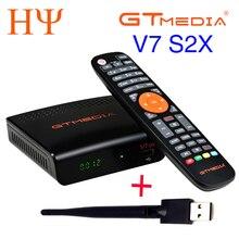 5/10 قطعة GTMEDIA V7 S2X HD + WIFI هوائي DVB S2 HD يوتيوب PowerVU Newcamd استقبال الأقمار الصناعية مجموعة صندوق أفضل freesat v7 V7S