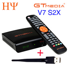 5/10 sztuk GTMEDIA V7 S2X HD + antena WIFI DVB-S2 HD Youtube PowerVU Newcamd odbiornik satelitarny Set-top box lepiej freesat v7 V7S