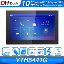 "Dahua Original VTH5441G Indoor Monitor 10"" 1024*600 Touch Screen Color IP Video Intercom IPC Support Alarm Replace VTH1660CH"