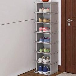 Вертикальный шкаф для обуви, пыленепроницаемый шкаф для обуви, простой в сборке органайзер для обуви, компактный держатель платяного шкафа ...