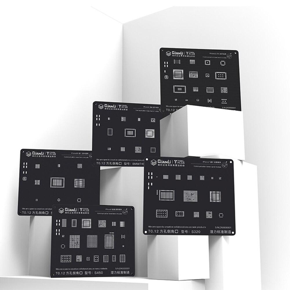 QIANLI 3D Black Steel Net For Iphone 5 5s 6 6s 6p 6sp 7 7p 8 8pUniversal Communication Baseband Module Tin Planting Repair Mesh