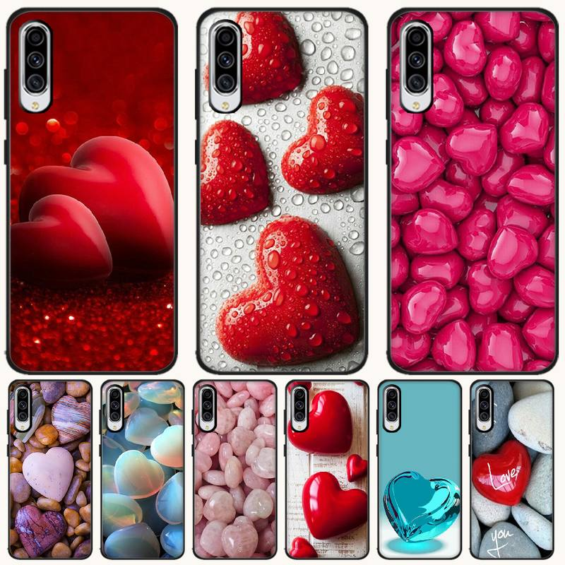 BaweiTE Love Stone Cover Black Soft Shell Phone Case For <font><b>Samsung</b></font> A6 6S 6Plus 7 720 <font><b>750</b></font> 8 8 PLUS 9 920 <font><b>2018</b></font> A8 A9STAR image