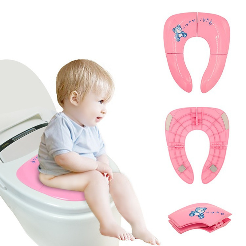 Portable Kids Travel Pot Children's Potty Seat Pad Baby Folding Toilet Training Seat Cover Toddler Potty Assistant Cushion