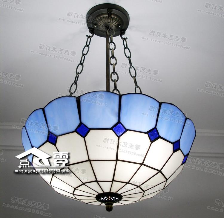 Tiffany Retro Vintage Pendant Lights Glass Lampshade Loft Pendant Lamps E27 110v 220v For Dinning Room Mediterranean-style