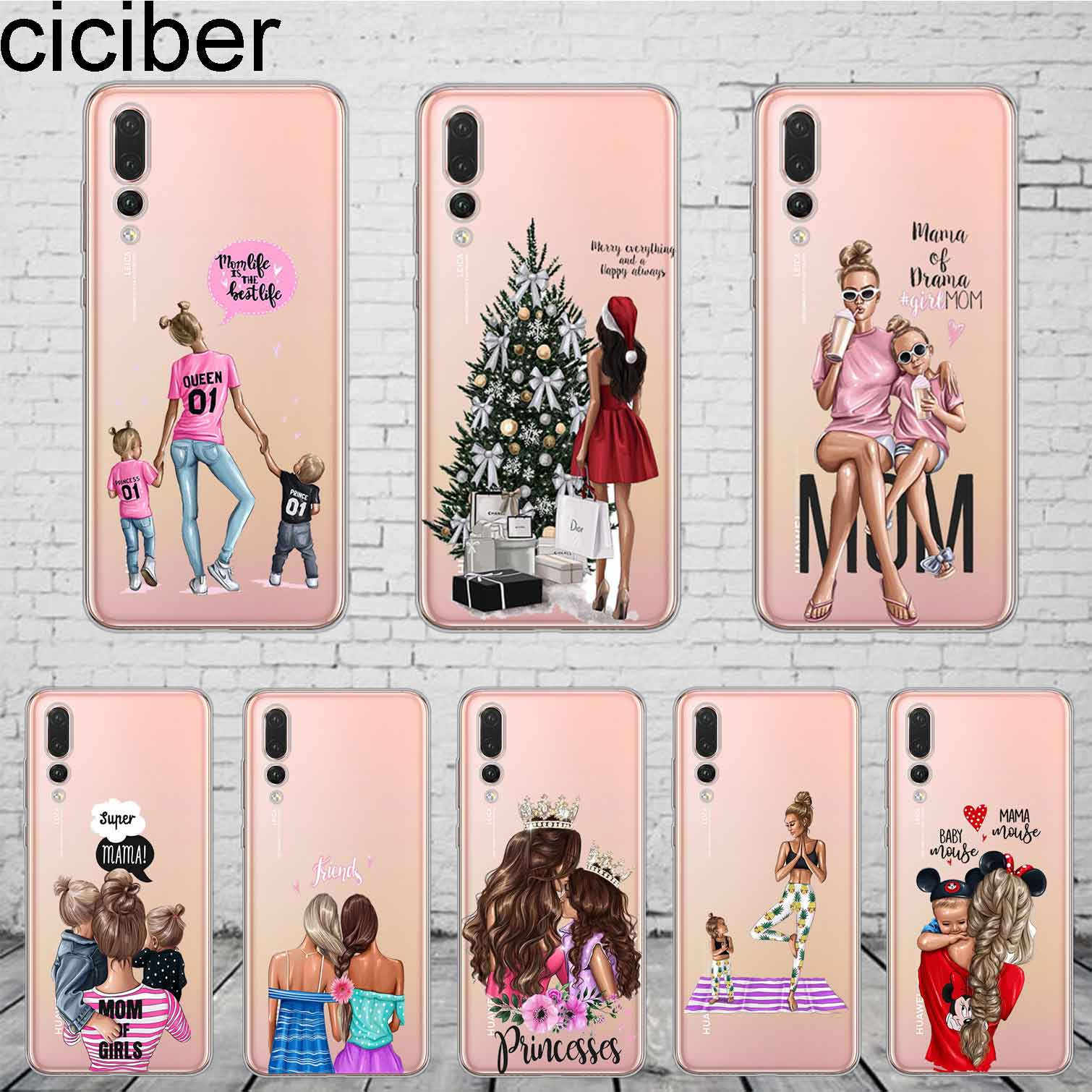 ciciber Woman Girl For Honor 10 9 8 Pro Lite X C Play 7A <font><b>Phone</b></font> <font><b>Case</b></font> For <font><b>Y</b></font> 9 7 6 <font><b>5</b></font> Prime Pro 2017 <font><b>2018</b></font> 2019 Coque Silicone TPU image