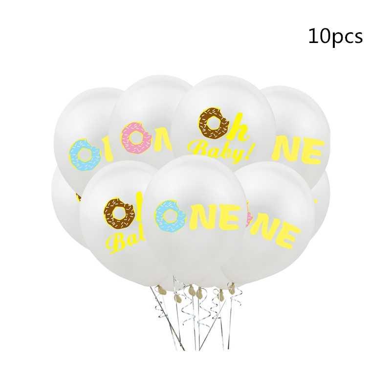 """OLOEY 16 """"una carta de oro rosa globos Donut tema Primer cumpleaños fiesta decoraciones para baby shower Boy Girl Donut Ballon Balons"""