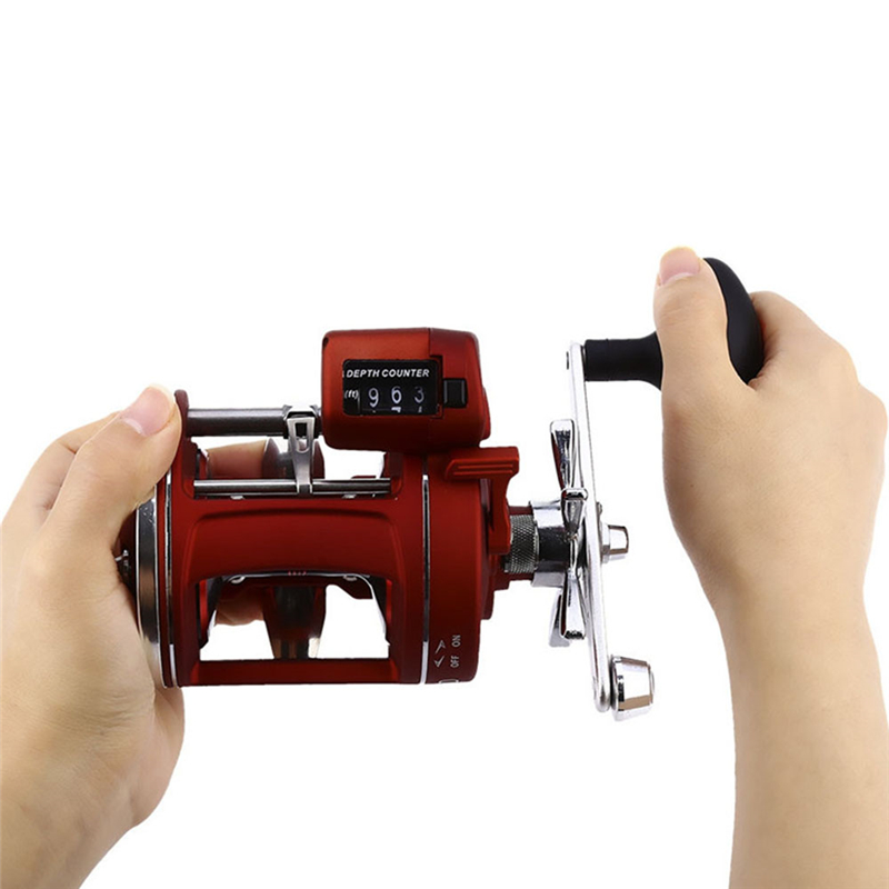 ACL30/50D 3.8:1/5.2:1 12BB Counting Fishing Reel Electric Depth Counting Left /Right Hand Drum High Speed Spinning Reel