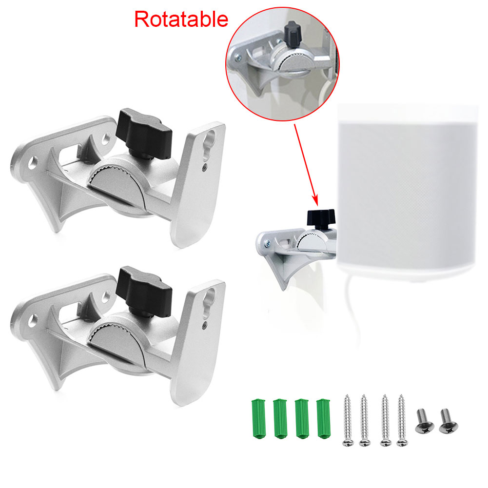 1pair Speaker Bracket Suspension Wall Mount Metal Wall Mount Shelf Holder Stand Bracket For SONOS Play:1 WiFi Wireless Sound