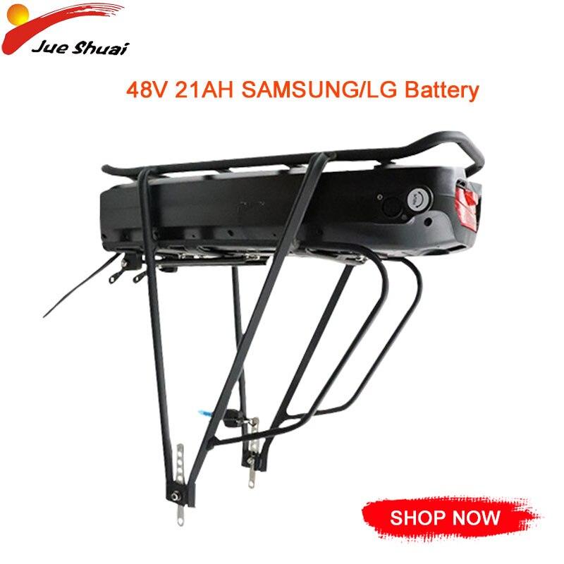 Batterie de vélo électrique EU/RU/USA sans taxe 48V21AH e-bike batterie au Lithium Samsung LG batterie de couche de Rack arrière batterie Bicicleta Eletrica