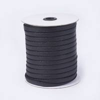 10x2mm Flat Imitation Leather Cords Handmade Beading Bracelet Jewelry Making Thread String Rope, about 50m/roll(54.68yards/roll)