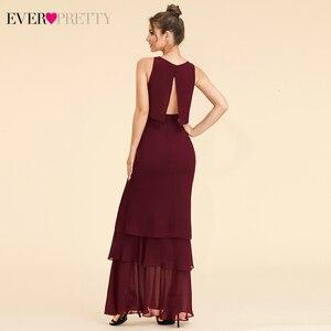 Image 2 - Zarif İki adet gelinlik modelleri hiç güzel EP07173 o boyun Ruffles katmanlı basit şifon elbise düğün parti için Sukienki