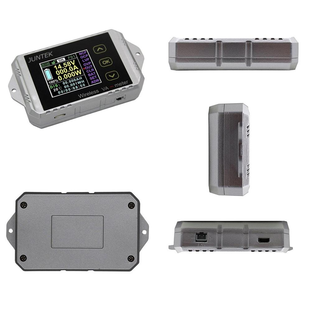 VAT1050 100V 50A LCD Digital Wireless DC Voltage Current VA Meter Car Battery Monitor Coulometer Coulomb Counter Wattmeter