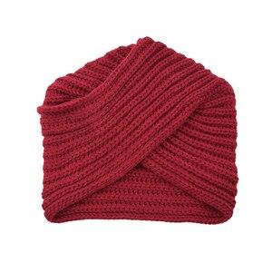Image 5 - הודו צלב סרוג טורבן כובע נשים של סתיו כובע חורף כובע לנשים קשמיר בימס כובעי עבור בנות כובעים מוסלמיים czapka zimowa