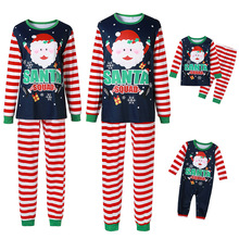 Family Matching Outfits Pajamas Sleepwear Christmas Family-Look Baby Mommy Me And Striped