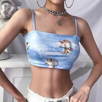 Μπουστάκι Σέξι Τιραντέ Κοιλίτσα έξω Για Όλες Τις Ώρες Της Ημέρας Γυναικείες Μπλούζες Ρούχα MSOW