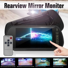 Rear-View-Mirror-Monitor DVD Widescreen Universal 7inch Car LCD TFT Touch-Button-Support