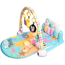 Music Baby Play Mat Kids Gym Crawling Activity Mat Baby Carpet With Piano Keyboard Infant Rug Early Education Puzzle Carpet Toys 120cm baby toys play mats with rack soft cotton puzzle educational mat crawling carpet child pink blue baby play gym
