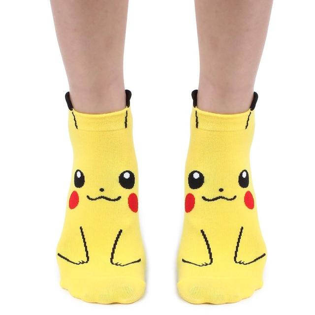 Anime Charmander Pokemon Pikachu Psyduck Squirtle calcetines 3D impreso de dibujos animados calcetines Kawaii Harajuku