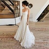 Verngo Wedding Dress Vestido De Noiva Trouwjurk Bridal Dress Lace Appliques Wedding Gown
