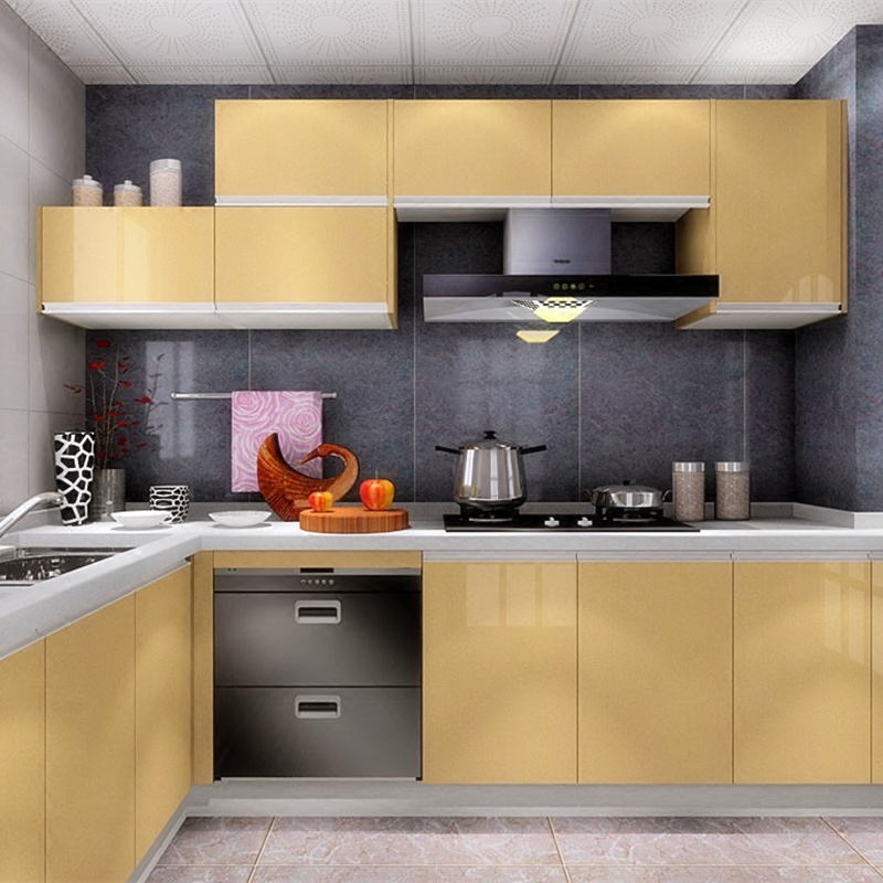 Купить с кэшбэком Self-Adhesive Modern Wallpapers Roll Peel and Stick Wall Papers Home Decor for Kitchen Backsplash Tile Living Black Sticker