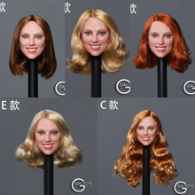 customized so toys so t01 so t03 1 6 scarlett johansson black widow battle suit clothes set for 12 inches ph doll body figure 1/6 Scale Female Figure Accessory GC033 Black Widow Scarlett Johansson Smile Girl Head Model Carved for 12 Female Figure Body