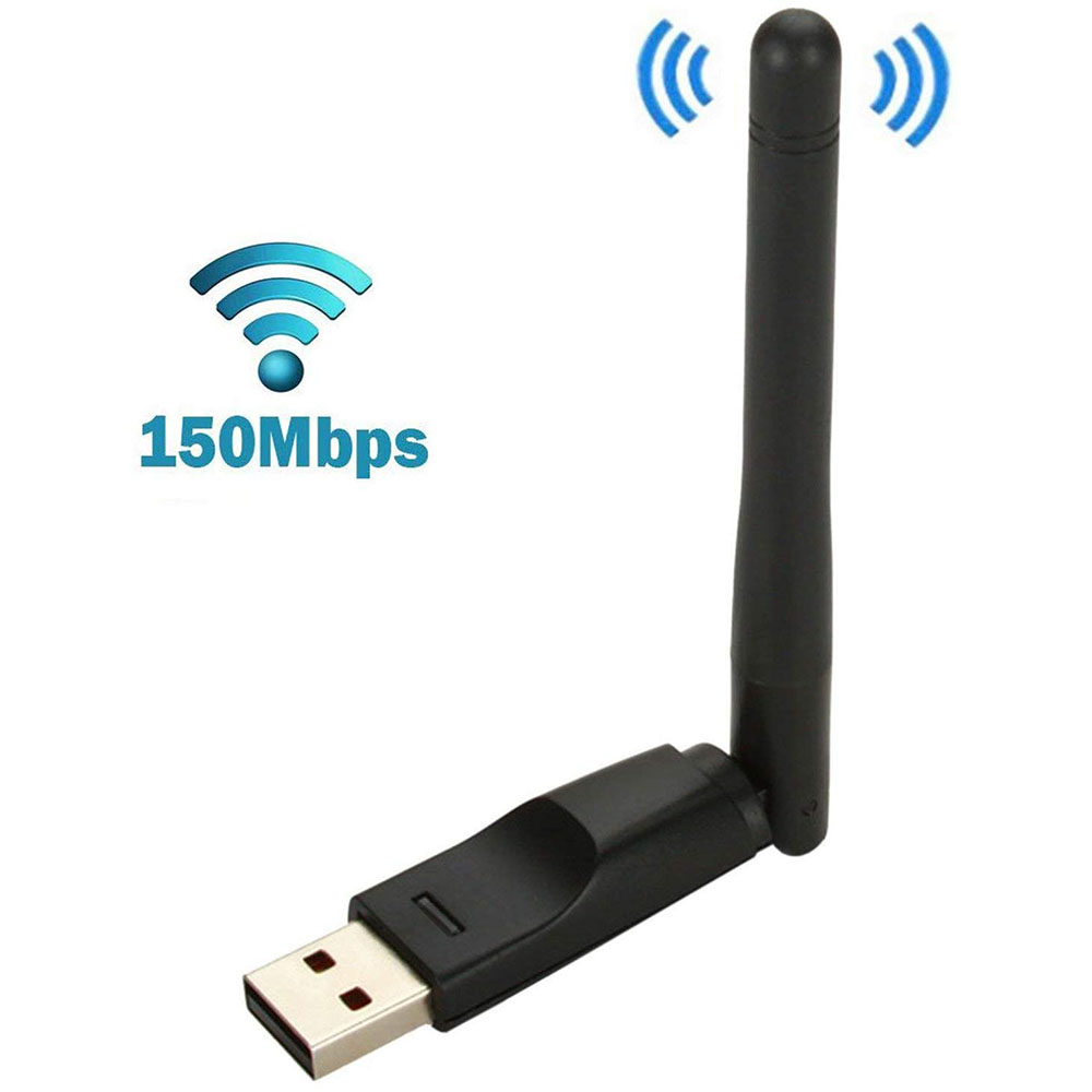 MINI USB Sem Fio Wifi Dongle Vara RT5370 150Mbps Placa de Rede Sem Fio Para Aura Hd MAG 250 254 255 260 270 275 Caixa de Iptv OTT