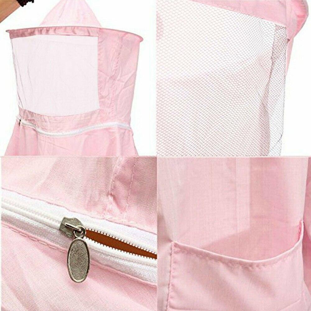 Beekeeper Suit Professional Bee Beekeeping Apicultura Equipment Protective Suit Clothes Jacket Veil Cool Pink W/ Hat Equip Suit
