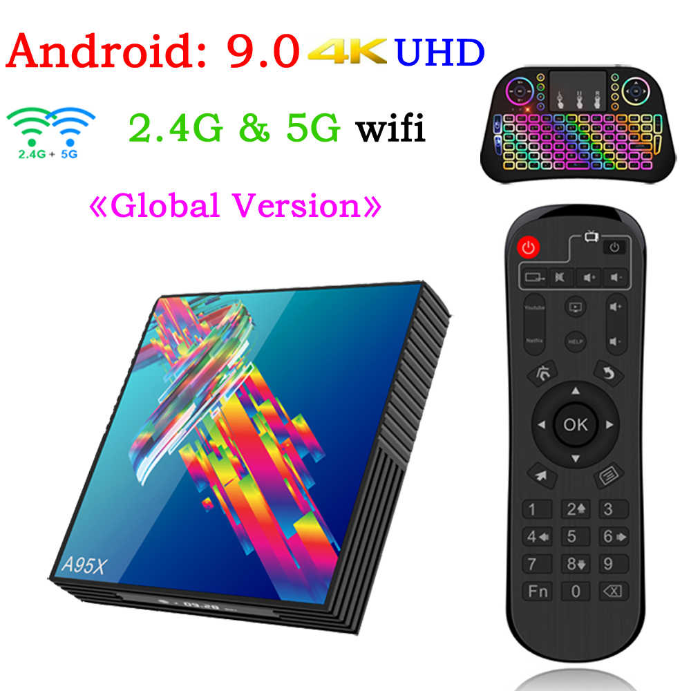 A95x r3 smart tv caixa android 9.0 conjunto superior caixa 4 k 3d mi ni tv caixa 2gb 4gb 32gb 64gb quad core media player pk x96 mi ni hk1 max mi
