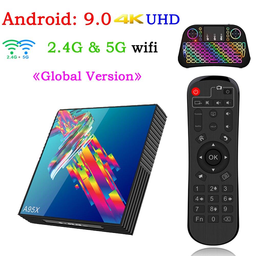A95X R3 Smart Tv Box Android 9.0 Set Top Box 4K 3D Mini IPTV Box 2gb 4gb 32gb 64gb Quad Core Media Player PK X96 MINI HK1 Max