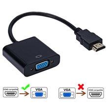 Roreta HD 1080P цифро-аналоговый преобразователь кабель, совместимому с HDMI к VGA адаптер для PS4 портативных ПК ТВ коробка к проектору для стенда