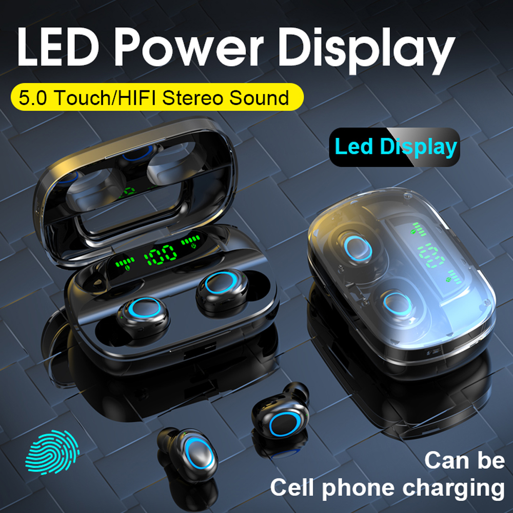 B5 <font><b>TWS</b></font> <font><b>Wireless</b></font> Earphone Bluetooth 5.0 Earphones Touch Control Earbuds 9D Stereo Music Headset 3500mAh Power Bank PK i500 <font><b>A6s</b></font> image