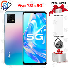 Original vivo y31s 5g telefone móvel 6.58 Polegada 6gb ram 128gb rom snapdragon 480 android 11 5000mah bateria face id smartphone