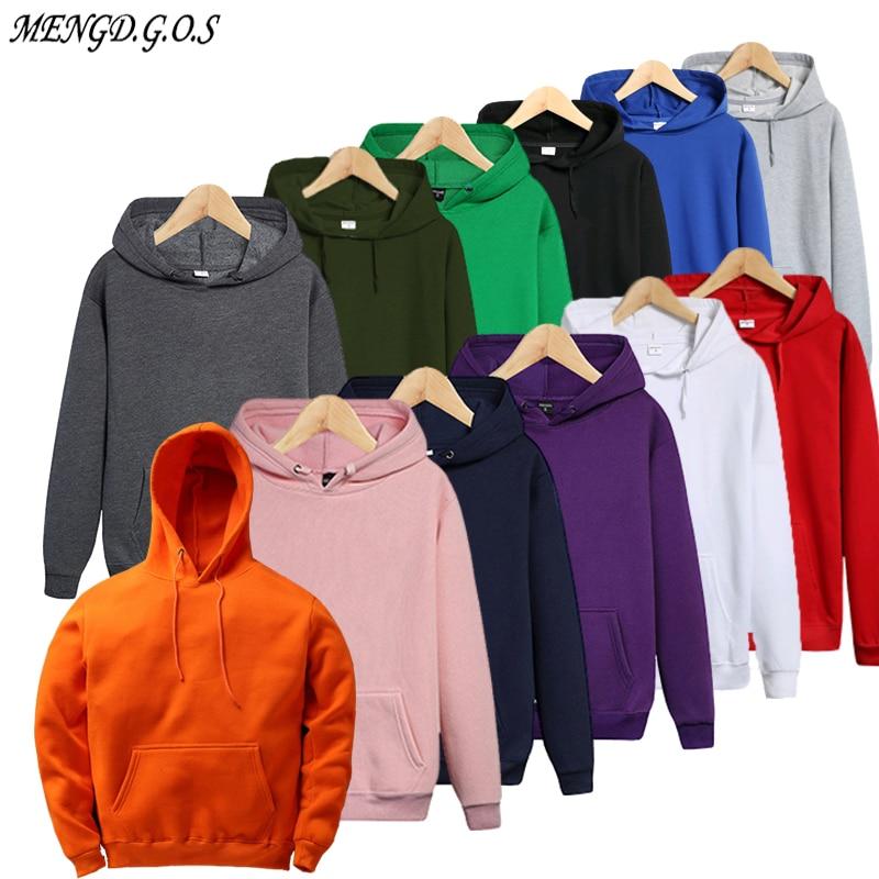 MENGDGOS Brand Men's Hoodie 2019 Hip Hop Casual Streetwear Men's Hooded Sweatshirt Women's Hoodie Men's Solid Color Hoodie