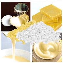 Velas de Cera de abeja Natural, suministros para fabricación de jabón, sin lápiz labial de soja añadido, cosméticos, Material artesanal, Cera de abeja amarilla, 50g/1set